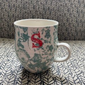 Anthropologie Monogram Mug - S